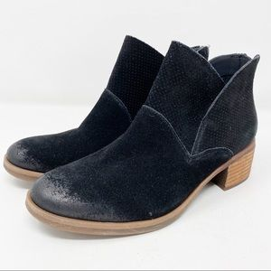 NEW Korks Black Suede Leather MALDON Ankle Booties
